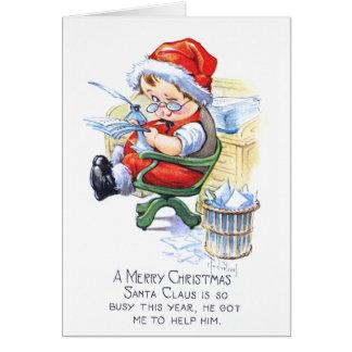 Santas Elf in Chair Card