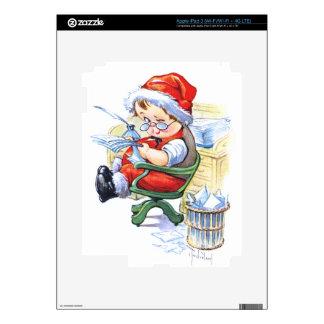 Santas Elf in Chair iPad 3 Skin