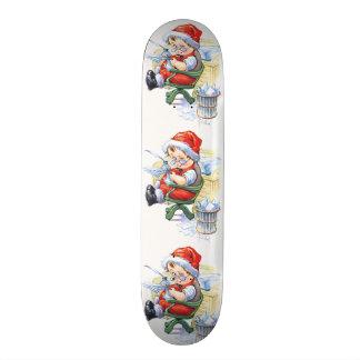 Santas Elf in Chair Skateboard