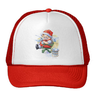 Santas Elf in Chair Trucker Hat