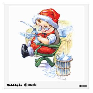 Santas Elf in Chair Wall Decal