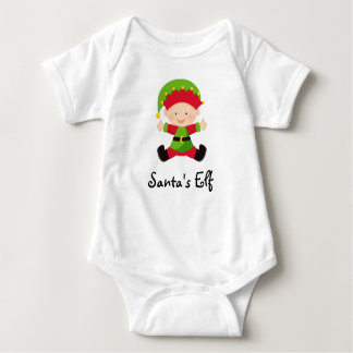 Santa's Elf Personalized Christmas Baby Shirt