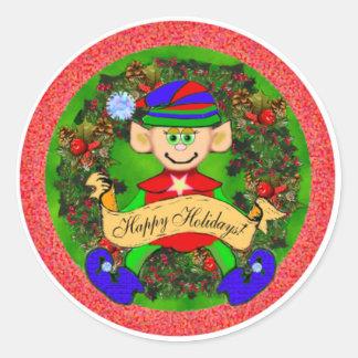 Santas' Elf Stickers