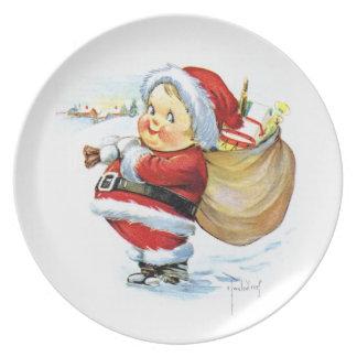 Santas Elf with Toys Dinner Plate