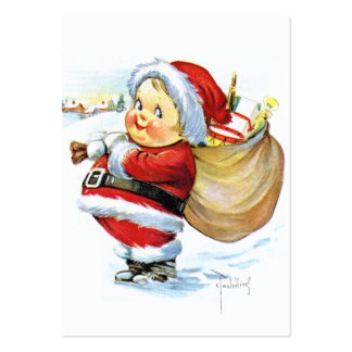 Santas Elf with Toys Large Business Card