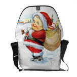 Santas Elf with Toys Messenger Bags