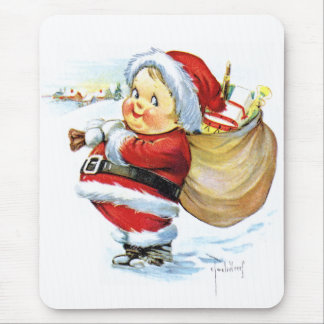 Santas Elf with Toys Mouse Pad