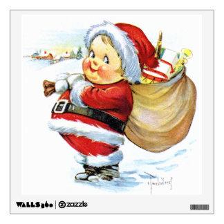 Santas Elf with Toys Wall Sticker