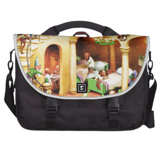 Santa's Elves at the North Pole Dormitory Laptop Bags