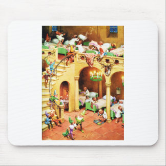 Santa's Elves at the North Pole Dormitory Mouse Pad