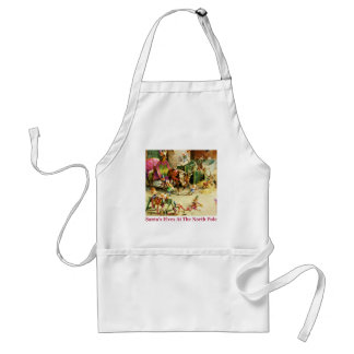 Santa's Elves at the North Pole Stables Adult Apron