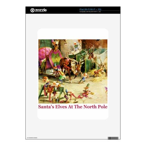 Santa's Elves at the North Pole Stables iPad Skin