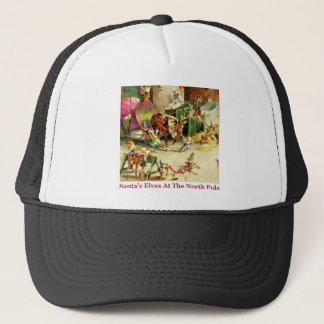Santa's Elves at the North Pole Stables Trucker Hat