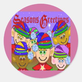Santas' Elves Classic Round Sticker