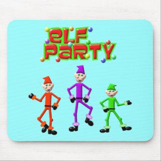 Santa's Elves Elf Party Design Mouse Pad