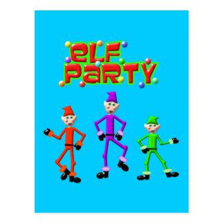 Santa's Elves Elf Party Design Postcard