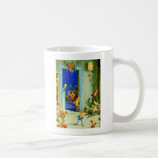Santa's Elves in North Pole Workshop Coffee Mug