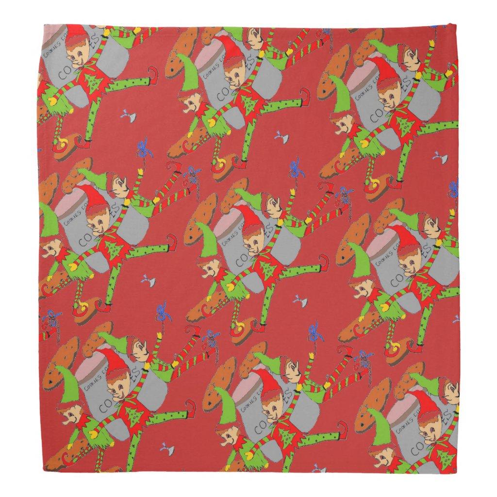 Santa's Elves on Christmas Bandana