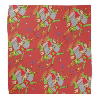 Santa's Elves on Christmas Bandana
