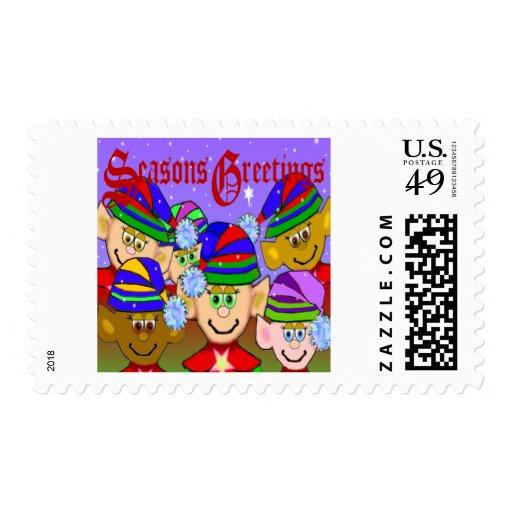 Santas' Elves Postage Stamp