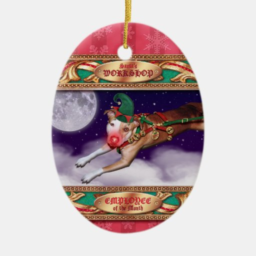 Santa's Employee of the Month Christmas Tree Ornament