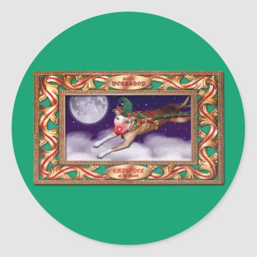 Santa's Employee of the Month Classic Round Sticker