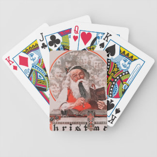 Santa's Expenses Bicycle Playing Cards