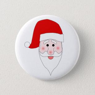 santa claus face buttons pins zazzle