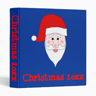 Santa's Face Christmas Binder Template