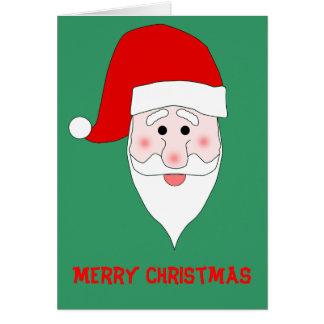 Santa's Face Christmas Card Template