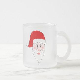 Santa's Face Frosted Mug
