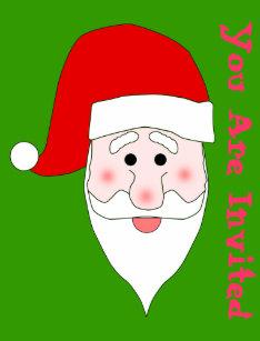 santa face invitations zazzle