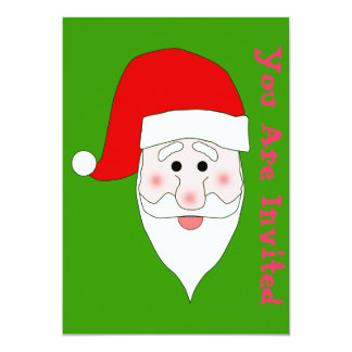 Santa's Face Invitation Template