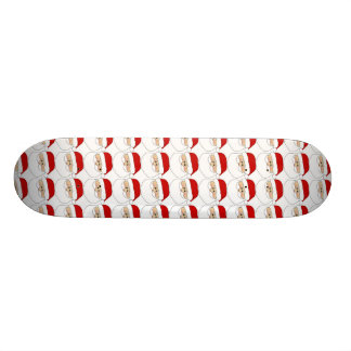 Santa's Face Pattern Skate Board Decks