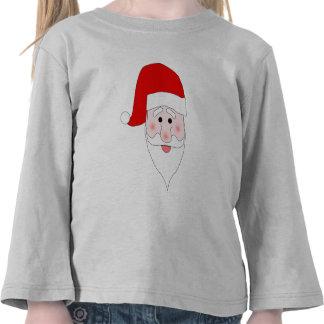 Santa's Face Toddler Long Sleeve T-Shirt