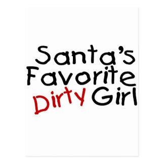 Santas Favorite Dirty Girl Postcard