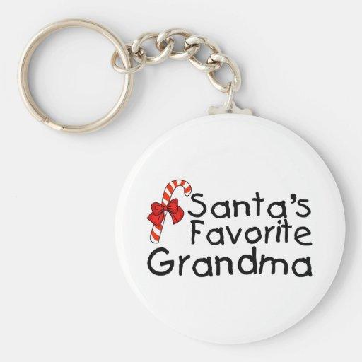 Santas Favorite Grandma 2 Basic Round Button Keychain