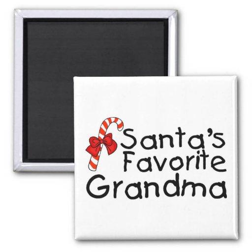 Santas Favorite Grandma Magnet