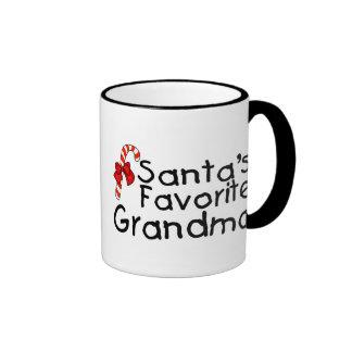 Santas Favorite Grandma Ringer Mug
