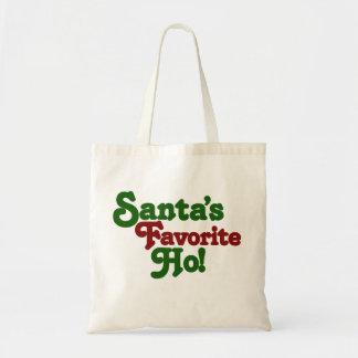 Santas favorite ho budget tote bag