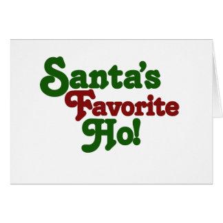 Santas favorite ho card