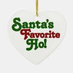 Santas favorite ho christmas ornaments