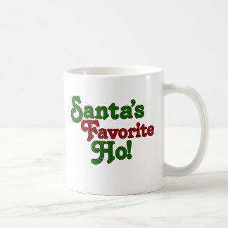 Santas favorite ho classic white coffee mug