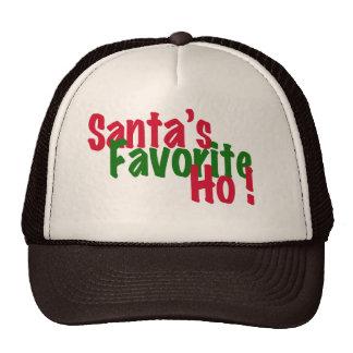 santa's favorite ho funny christmas hat design