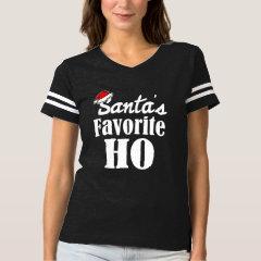 Santa's Favorite Ho Funny Christmas saying women's T-shirt