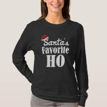 Santa's Favorite Ho funny Women's Christmas shirt