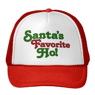Santas favorite ho mesh hats