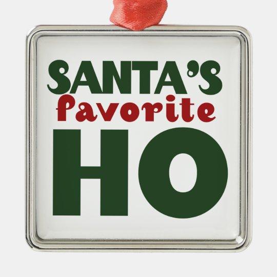 Santas Favorite HO Metal Ornament
