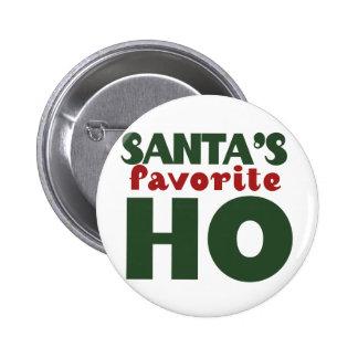 Santas Favorite HO Pinback Button
