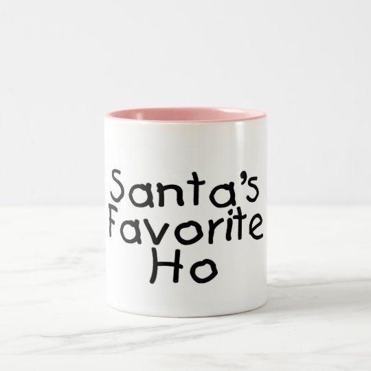 Santas Favorite Ho Two-Tone Coffee Mug